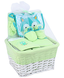 Honey Bunny Layette Basket Set - 6 Pieces