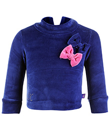 Little Kangaroos Sweat Top Full Sleeves - Bow Appliques