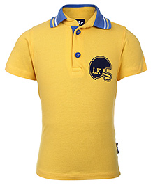 Little Kangaroos Polo Neck T-Shirt - Yellow