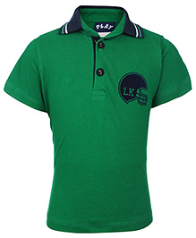 Little Kangaroos Polo Neck T-Shirt - Green