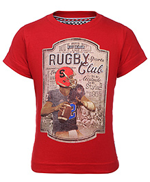 Ruff T-Shirt Short Sleeves Red - Rugby Club
