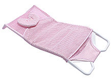 Fab N Funky Comfort Bather With Heart Shape Head Support - Pink