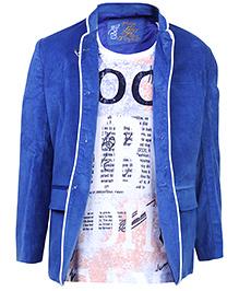 Blazo T-Shirt With Jacket - Blue