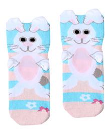 Mustang Socks Rabbit Print - Blue