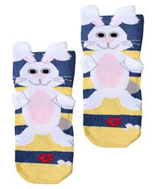 Mustang Socks Rabbit Print - Yellow