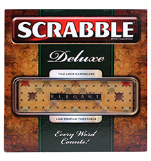 Mattel Scrabble Deluxe Elegant - Wooden Game