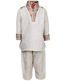 Ethniks Neu Ron Kurta And Pajama Set - High Neck Collar