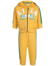 Little Kangaroos Hooded Sweatshirt And Pant Set - Yellow