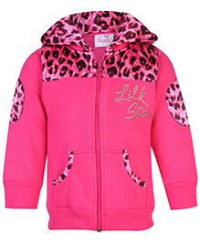 Little Kangaroos Full Sleeve Hooded Sweatshirt - Leopard Print