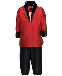 Ethniks Neu Ron Kurta And Pajama Set - Solid Color