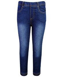 Fox Pull Up Jeans - Blue