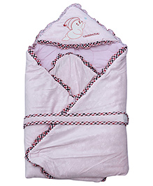 Fab N Funky Baby Blanket - Light Pink