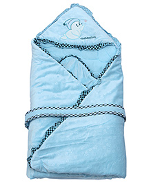 Fab N Funky Baby Blanket - Light Blue