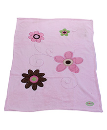 1st Step Blanket Floral Patch - Pink