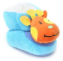 Cute Walk Baby Booties - Animal Applique