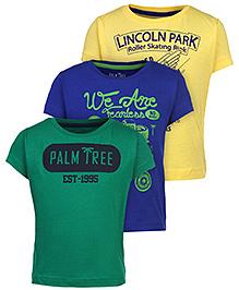 Palm Tree Half Sleeve T-Shirt - Set of 3