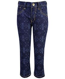 Gini & Jony Fixed Waist Jeans - Denim Blue