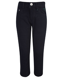 Palm Tree Jeans Black - Elasticated Waist
