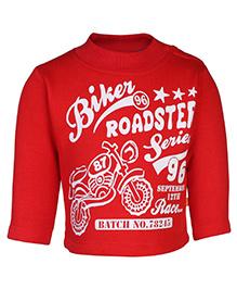 Little Kangaroos Full Sleeves Swear T-Shirt - Biker Roadster Print