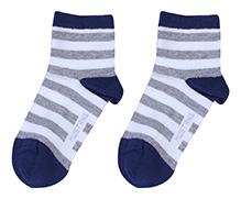 Mustang Ankle Length Socks - Stripe Prints