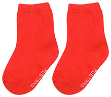 Mustang Solid Colour Socks - Red