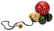 Dovetail Single Tortoise Wooden Toy - Multicolour