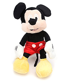 Disney Soft Toy Mickey Flopsie New - Red And Black