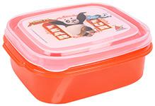 Kung Fu Panda Lunch Box With Fork - Orange - 13 X 16 X 10 Cm