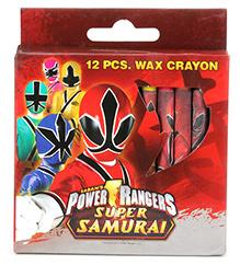Power Ranger Super Samurai Wax Crayons - 12 Pieces