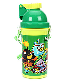 Angry Bird Space Water Bottle Green - 500 Ml - Capacity 500 Ml