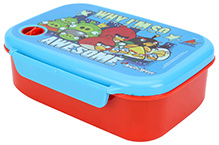 Angry Birds Lunch Box With Fork - Blue And Red