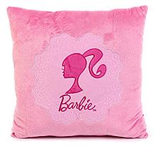 Barbie Square Shape Cushion - Pink
