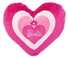 Barbie Heart Shaped Cushion - Pink - 45 X 45 Cm