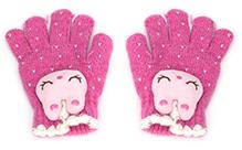 Babyhug Hand Gloves Rabbit Face Motif - Pink