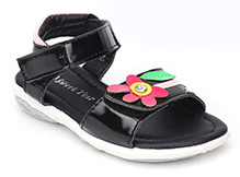 Sweet Year Sandals Velcro Closure - Floral Applique