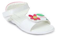 Sweet Year Sandals Velcro Closure - Floral Applique