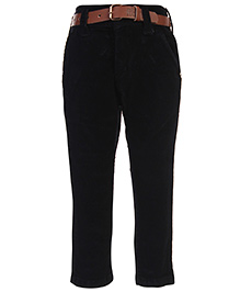 Ruff Corduroy Pant With Belt - Black