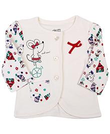 FS Mini Klub Full Sleeve Front Open Vest - Printed