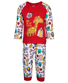 FS Mini Klub Full Sleeve Night Suit - Printed