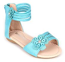 Sweet Year Gladiator Sandals - Floral Motif