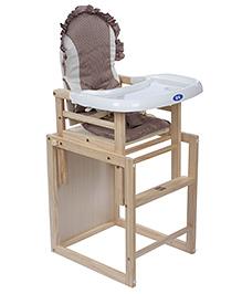 Fab N Funky Wooden High Chair - Brown