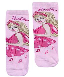 Mustang Sock Barbie Print - Pink