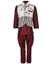 Babyhug Three Piece Ethnic Clothing Set - Levender