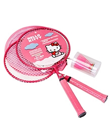 Hello Kitty Badminton Racket Pair Set With Shuttlecock - Length 45.5 cm
