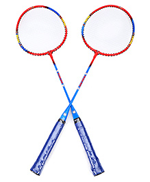 Disney Spiderman Badminton Set With Cover - Blue And Red