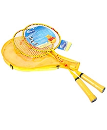 Disnep Winnie The Pooh Badminton Set With Cover - Yellow