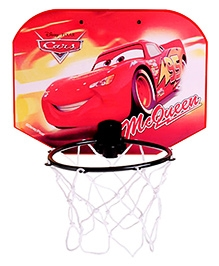 Disney Pixar Cars Mini Basket Ball Set - Red