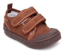 Kittens Sneakers With Velcro Closure - Brown