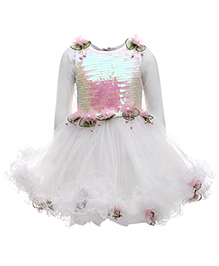 Kittens Party Wear Frock - Pearl Work