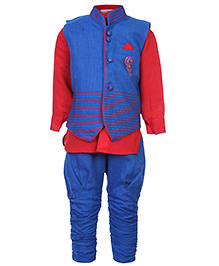 Babyhug Full Sleeves Kurta And Jodhpuri Pajama With Jacket